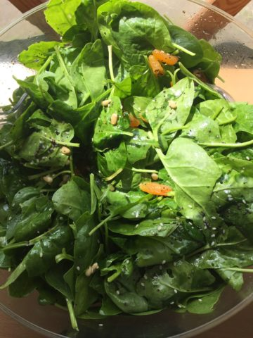 Apricot and Spinach salad recipe