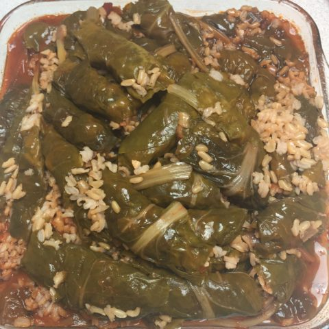 Delicious vegan Iraqi dish with chard